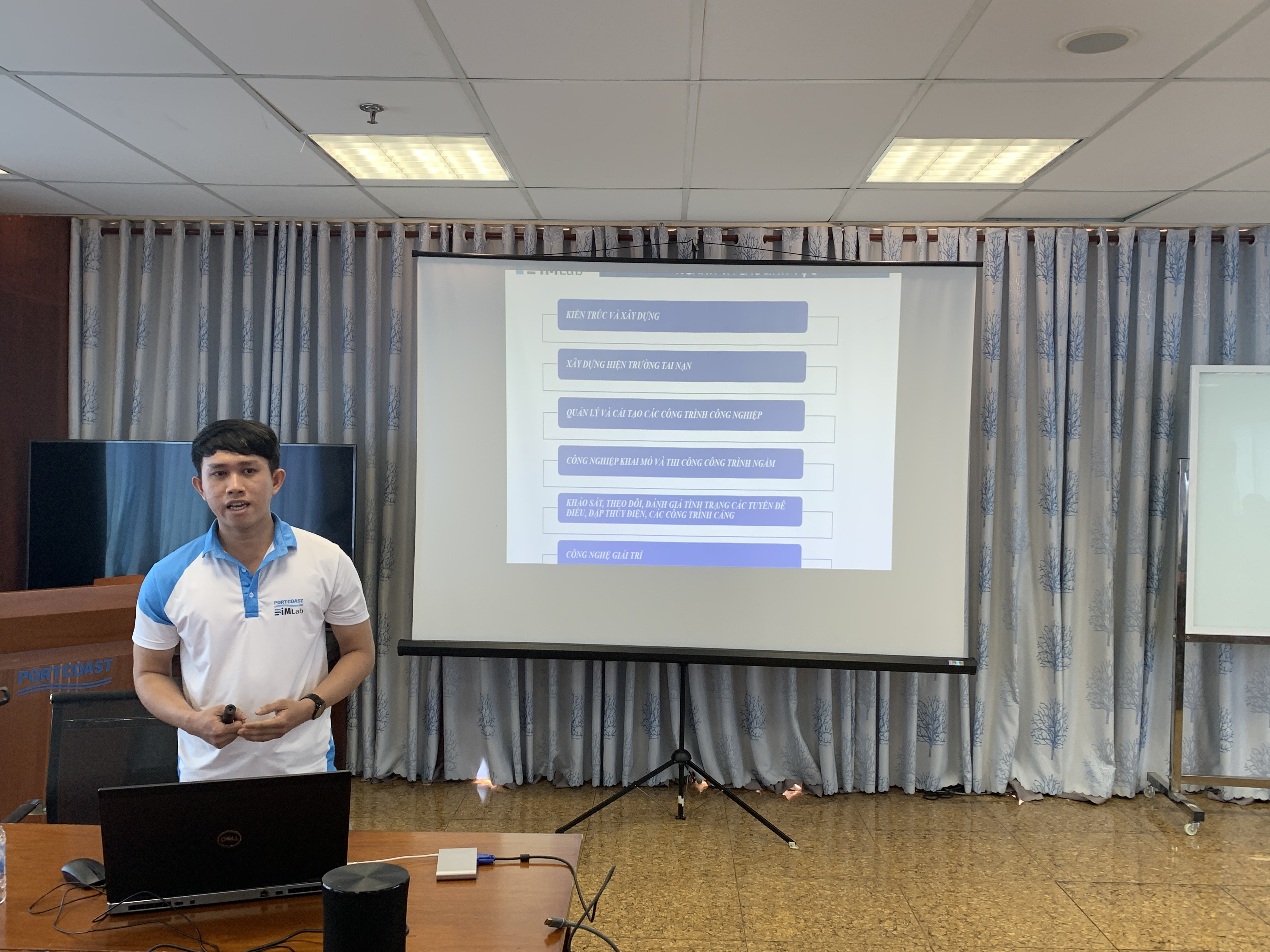 Mr. Le Nguyen Thanh Phuoc explains about Scan to BIM in the FARO ecosystem that the company applies