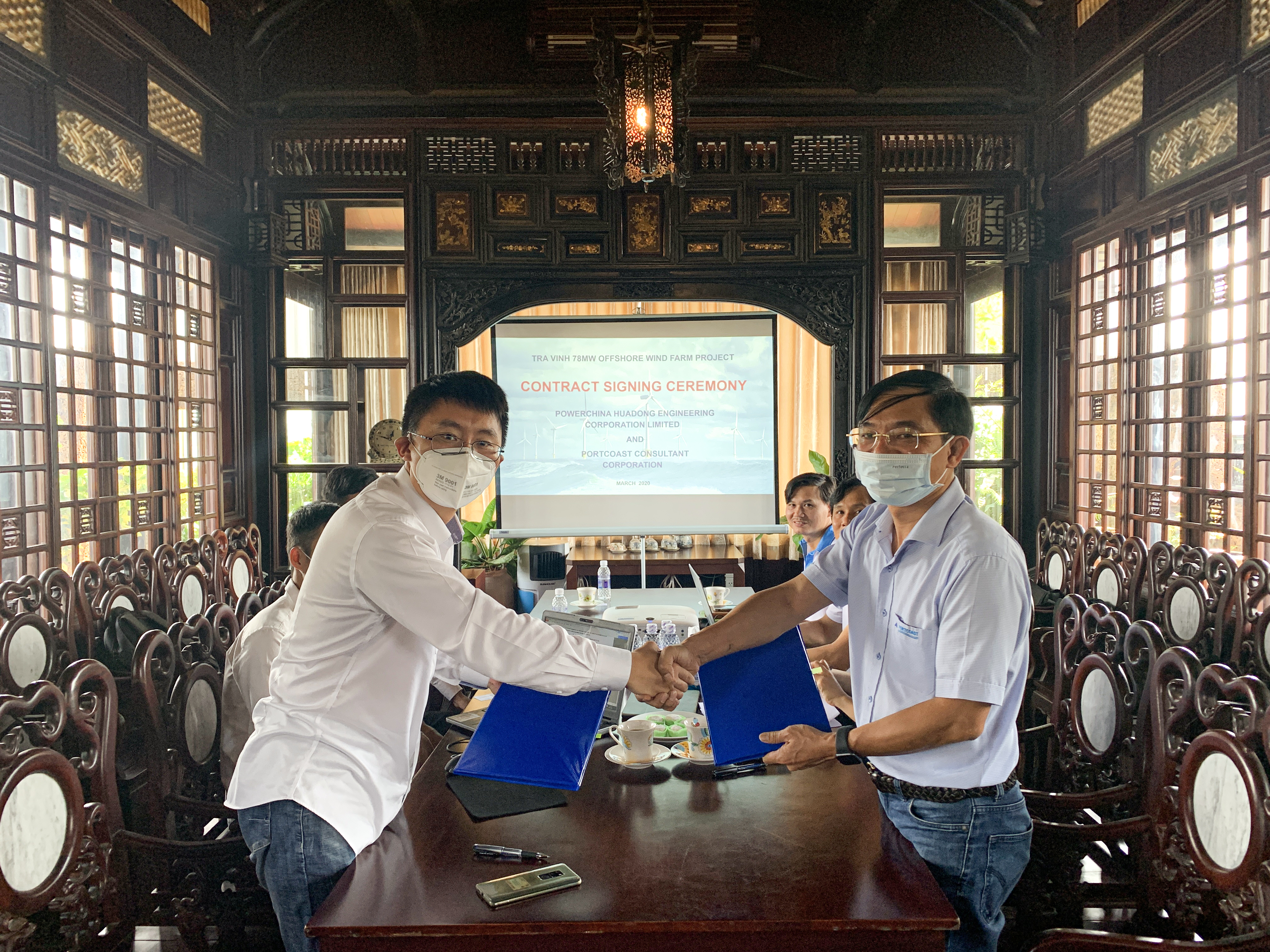 Contract signing ceremony with Powerchina Huadong Engineering