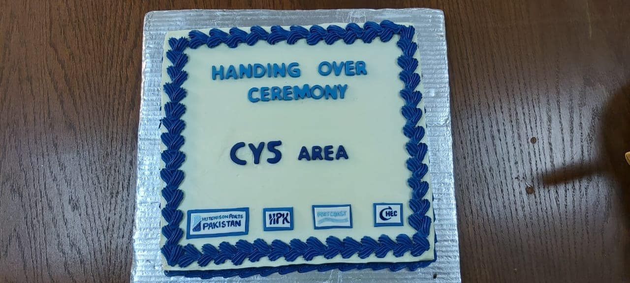 Handing over ceremony for CY5 Area of SAPT2 project - Karachi, Pakistan
