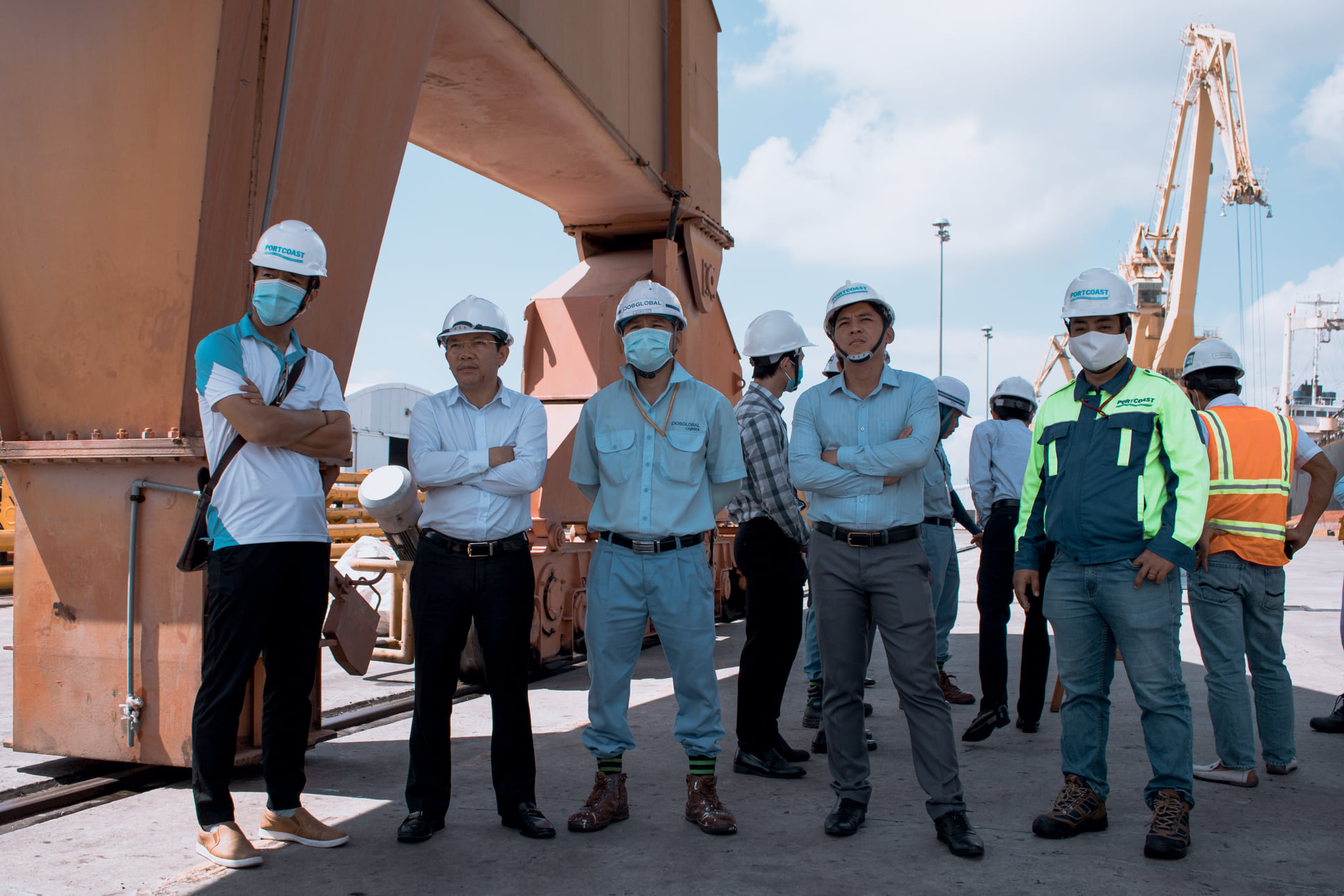 Site visit with Phuoc An Port's Client at Posco Vietnam, CMIT and SSIT