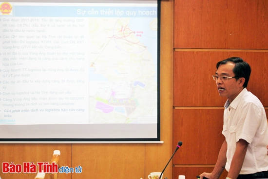 Addition and completion of the detailed planning of Vung Ang Logistics center