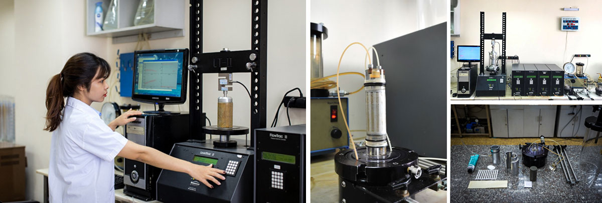 Laboratory testing for soil Mechanical Testing - Triaxial tests